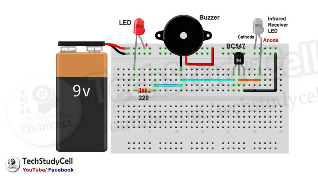 Fire Detector Alarm circuit diagram