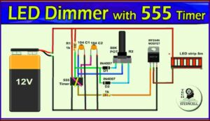 LED Dimmable Lights with 555 Timer