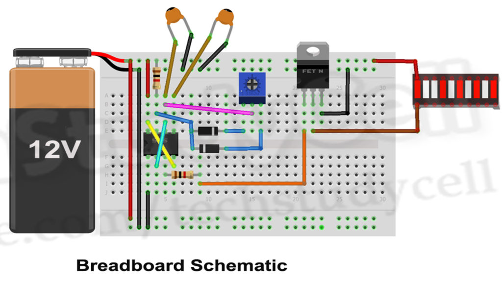 LED Dimmable Lights with 555 Timer circuit 2