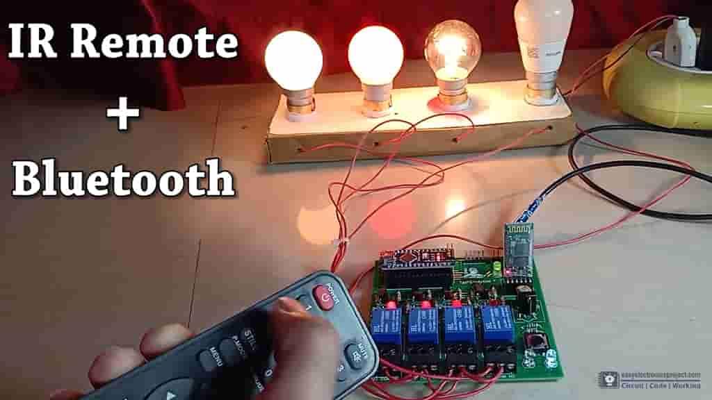 Arduino Control Relay Module | Bluetooth & IR