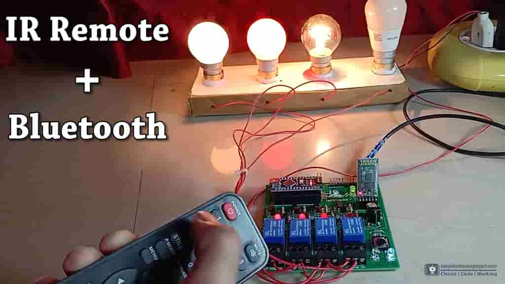 Arduino Control Relay Module   Bluetooth & IR