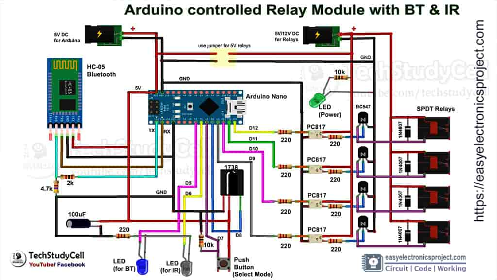 arduino controlled relay circuit