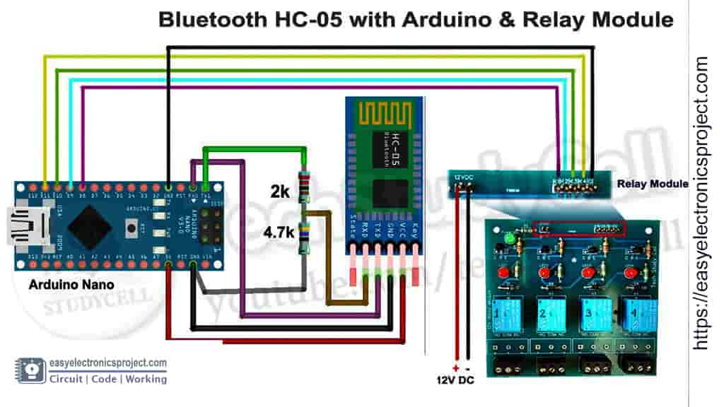 circuit bluetooth arduino controlled relay