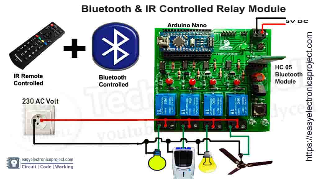 infrared blutooth control relay module