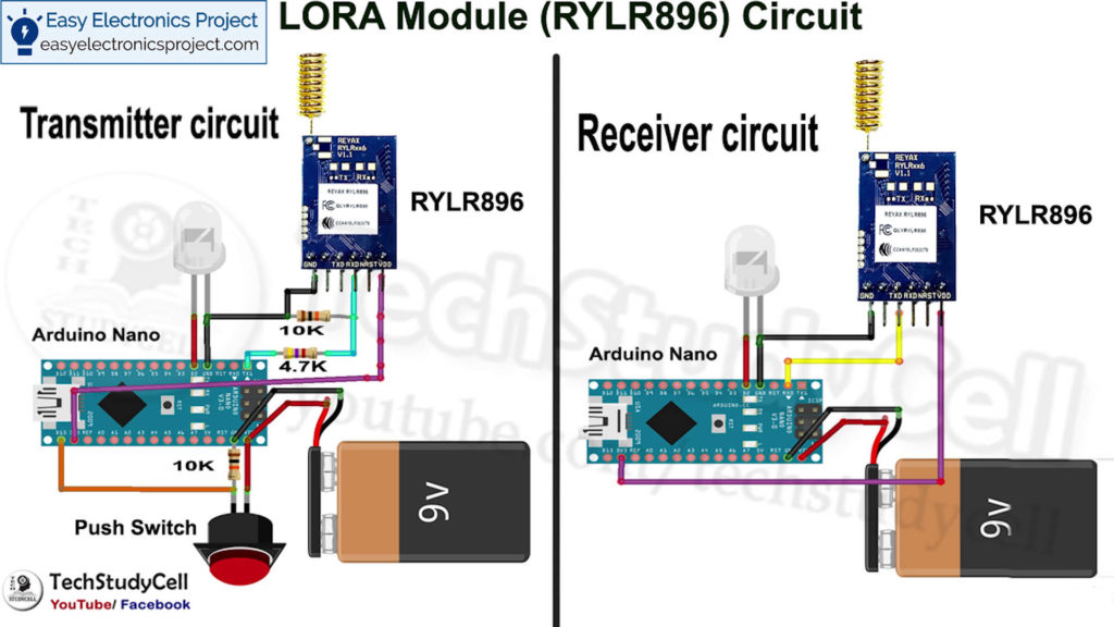 LoRA and Arduino Control Relay circuit