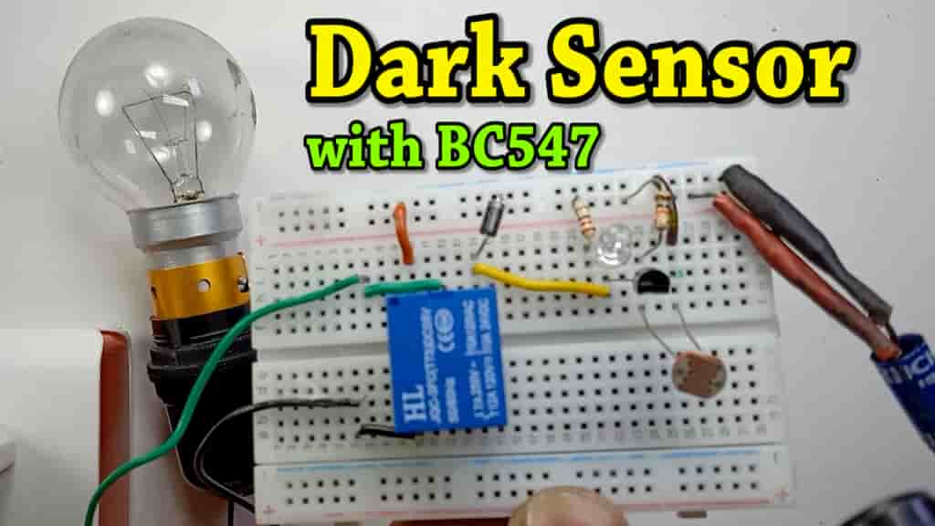 Automatic street light using LDR and BC547