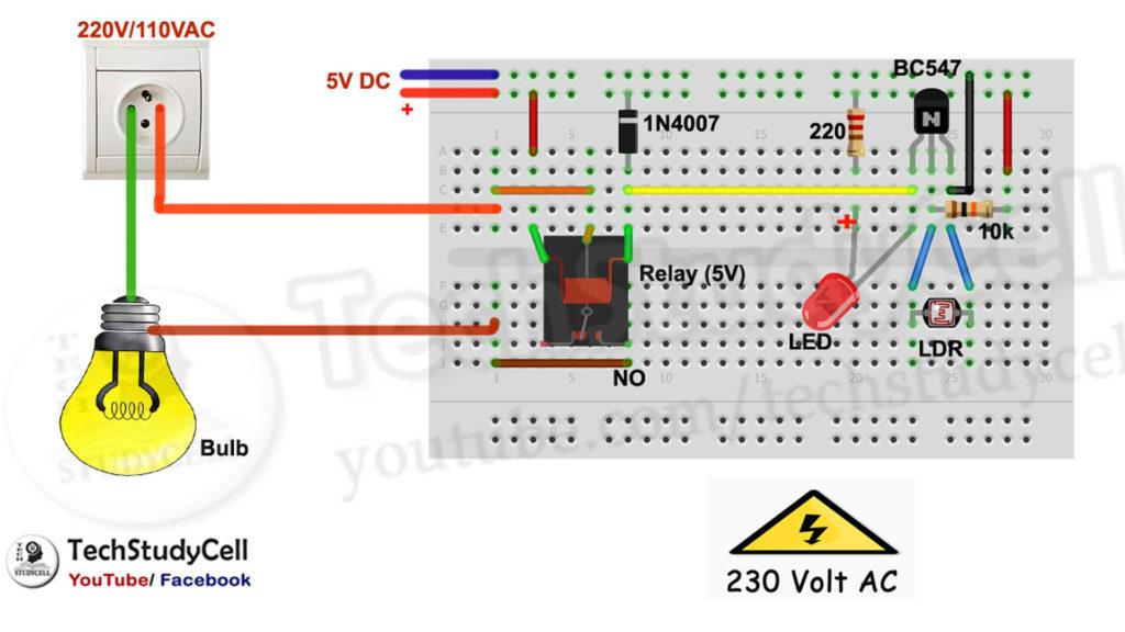 automatic street light circuit diagram