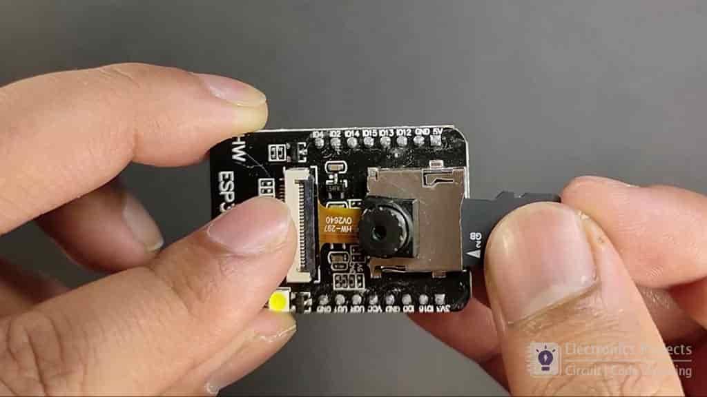 espa32cam PIR motion sensor camera pic 10