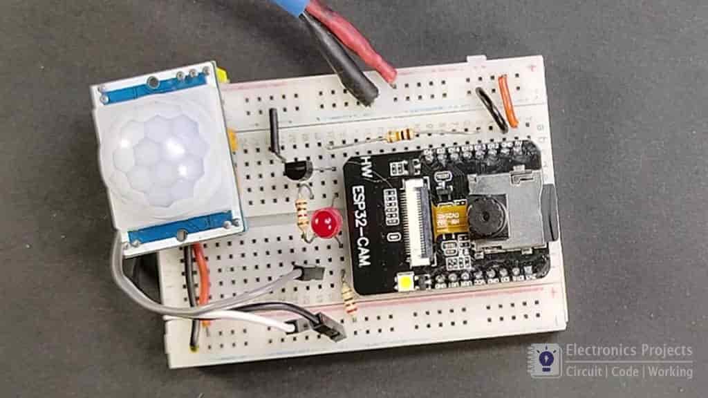 esp32cam PIR motion sensor camera pic 5