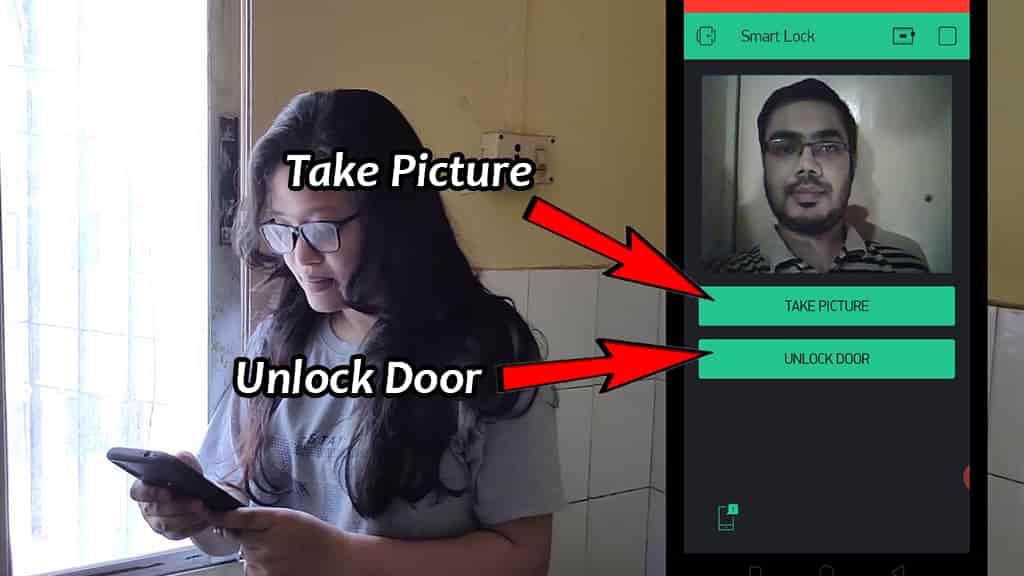 ESP32-CAM smart Door Lock control from Blynk