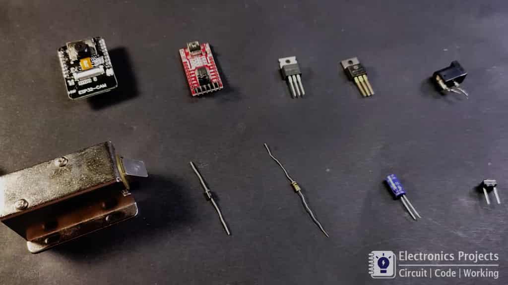 ESP32-CAM WIFI Door Lock components