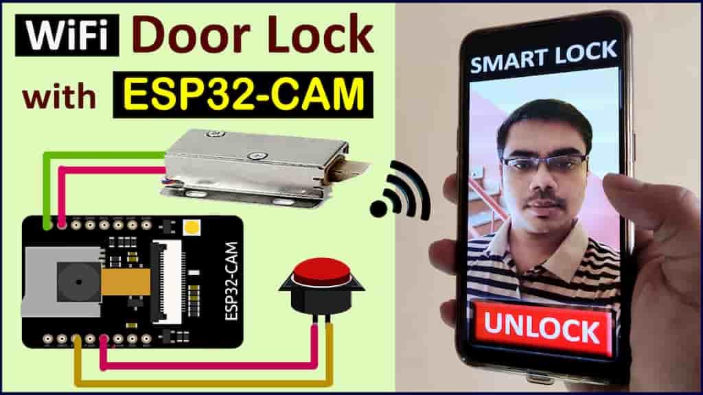 ESP32-CAM WIFI Door Lock cover Pic
