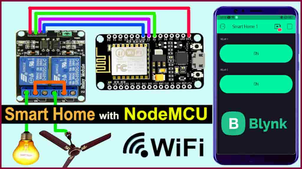 Home Automation using NodeMCU & Blynk App (IoT) – WiFi Relay Module