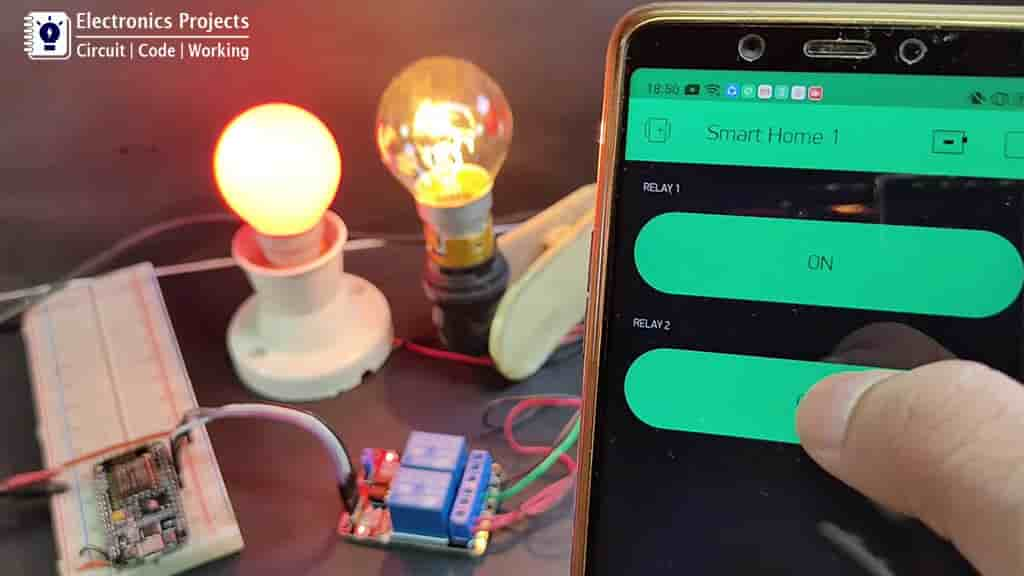 Home automation with NodeMCU and Blynk pic 1