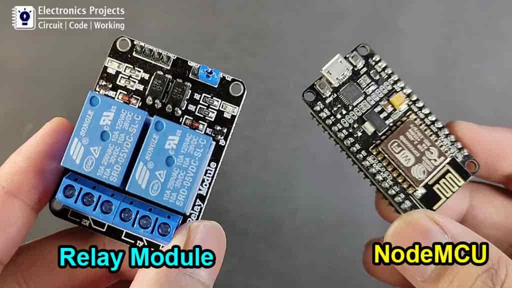 Nodemcu and Relay module