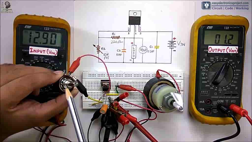 Testing LM317 circuit