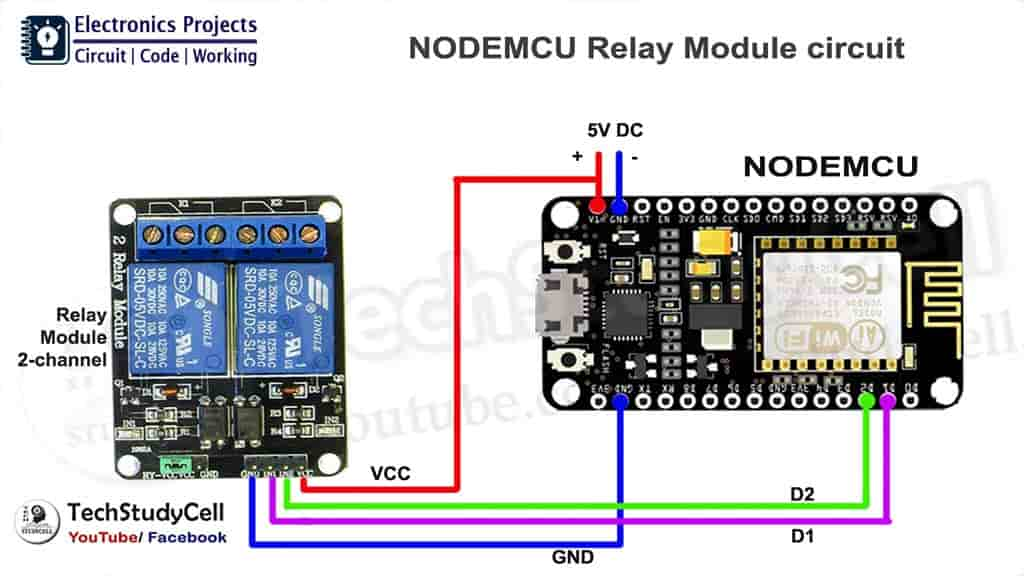 NodeMCU Relay module circuit 1