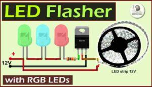 LED Flasher Circuit using RGB LED