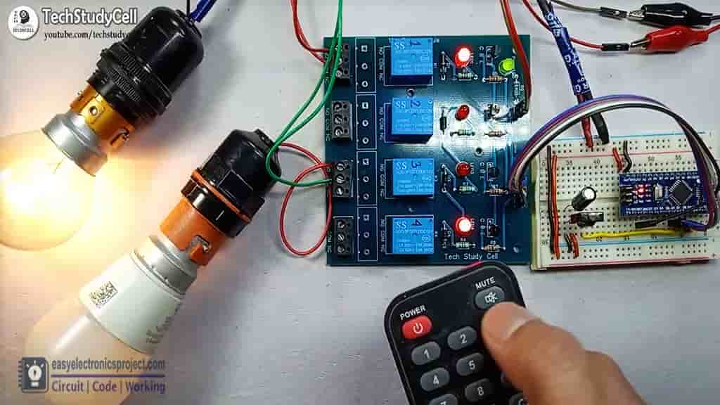 IR remote control relay module