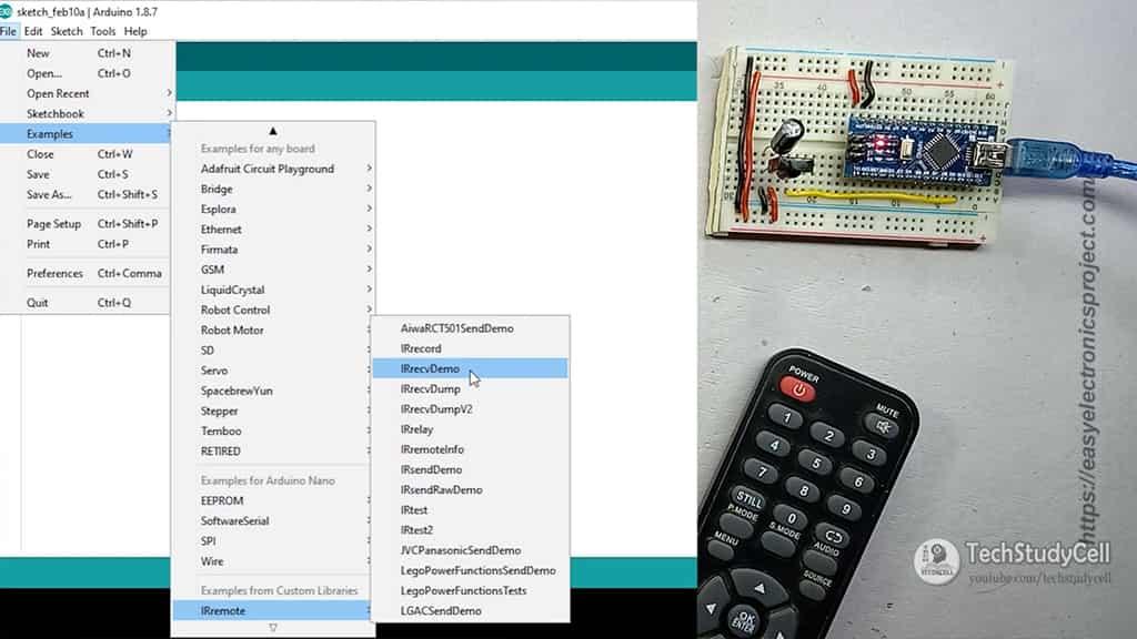 Arduino IR remote library