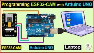 Program ESP32-CAM using Arduino UNO