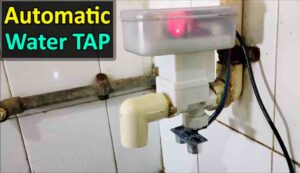 Auto Stop Water Tap using Arduino and HCSR04