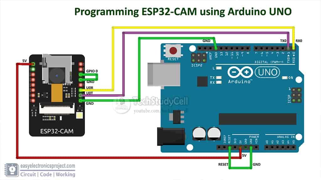 esp32cam arduino circuit