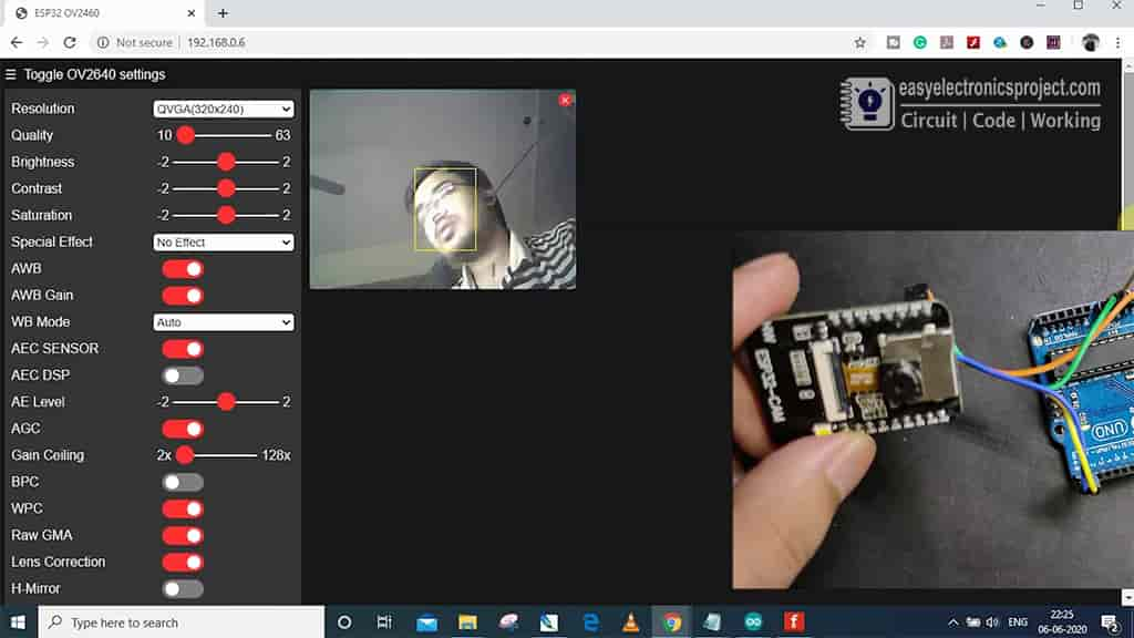 esp32cam video streaming pic 2
