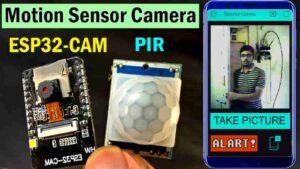 ESP32CAM Blynk Motion Sensor Security Camera with Notification