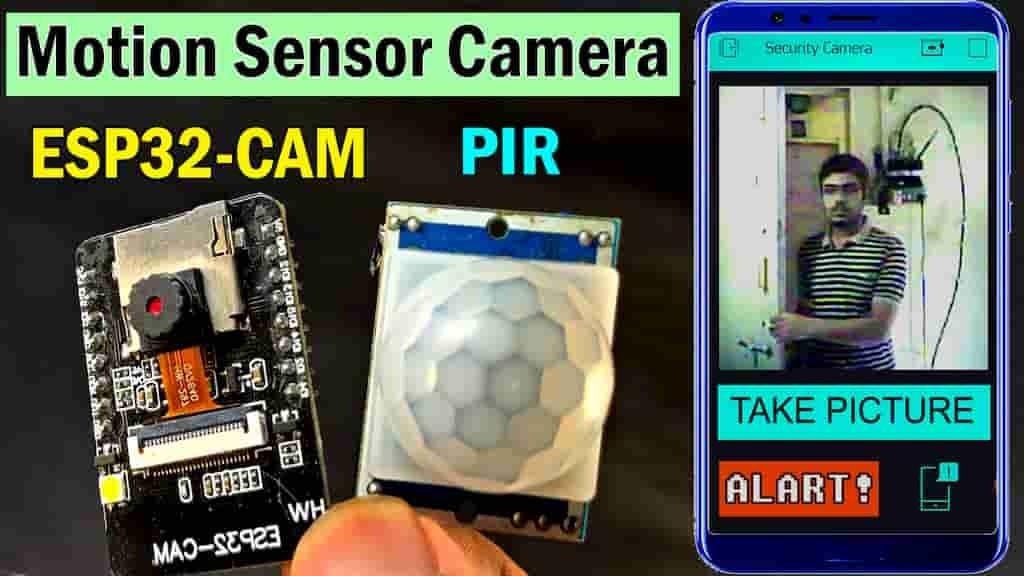 ESP32-CAM PIR Blynk Security Camera cover pic