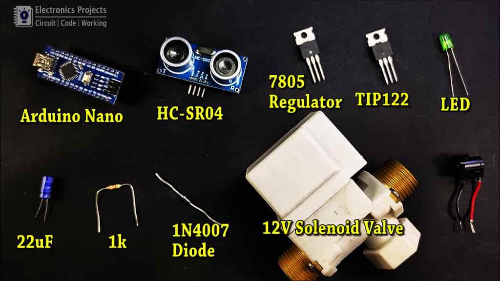 water tap sensor components