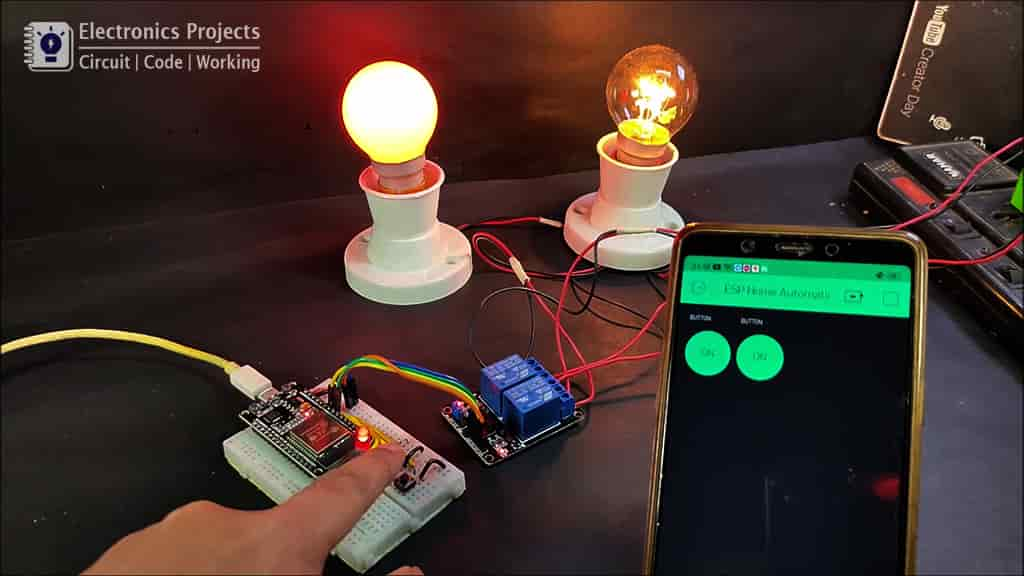 ESP32 home automation with Blynk