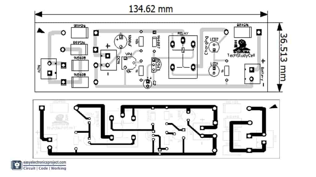 PCB Layout of Automatic battery charger
