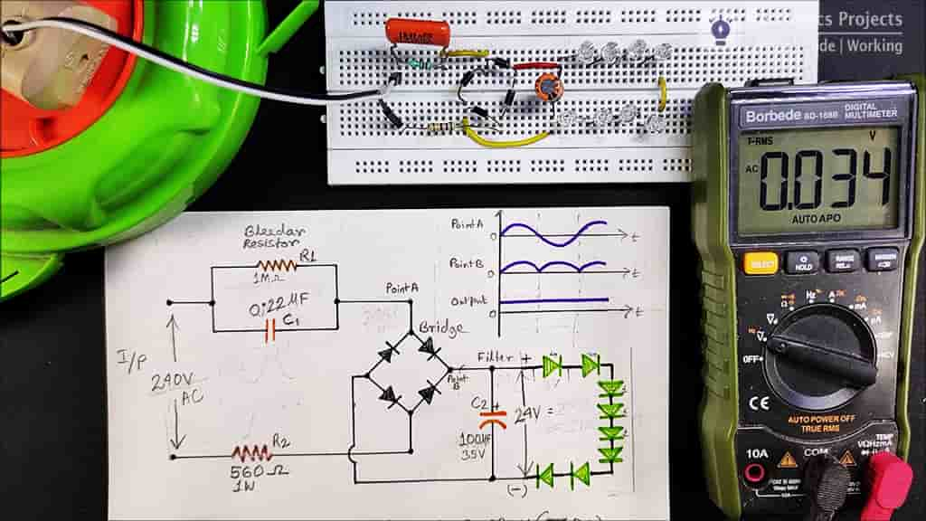 LED circuit on Breadboard