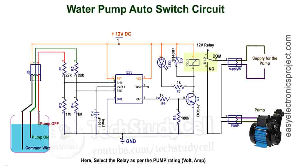 Water Pump Auto Switch circuit