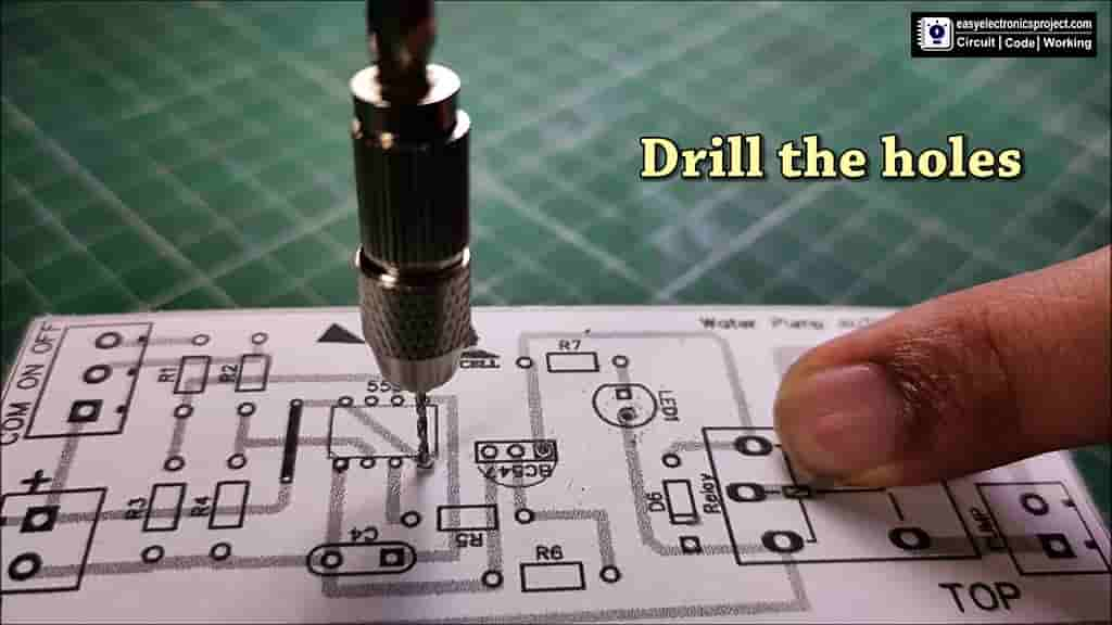 Drill the holes for the components
