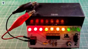 Battery Level Indicator circuit with LM3915