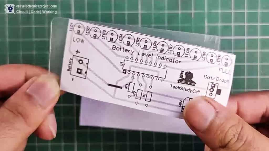PCB Layout of Battery level indicator