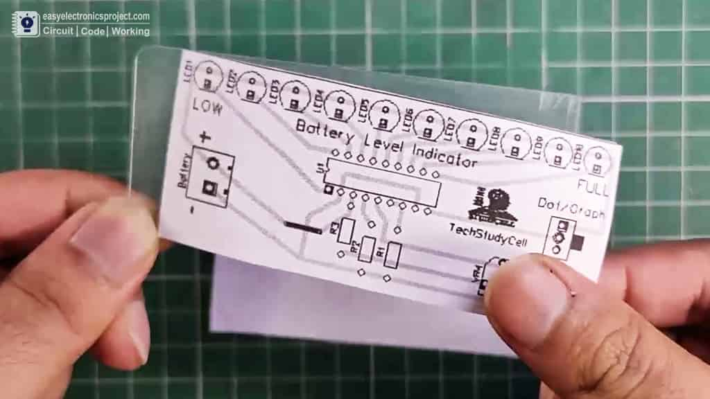 PCB Layout of Battery level indicator