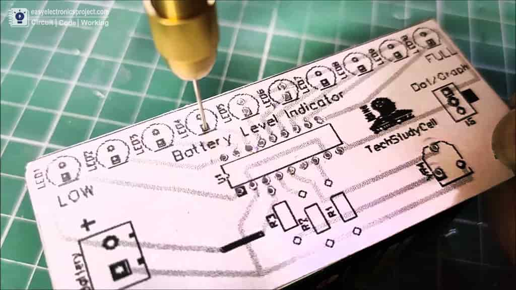 drill the holes on the PCB
