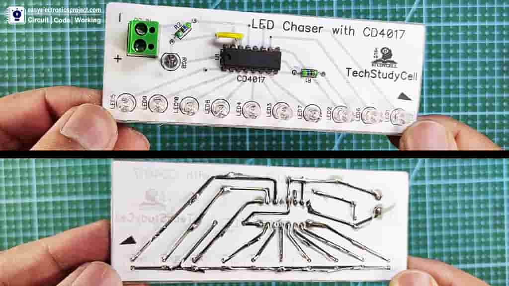 4017 LED Chaser PCB