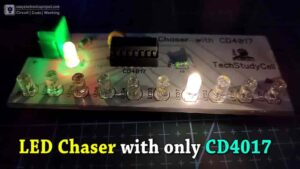 4017 LED chaser Circuit Diagram with RGB LED