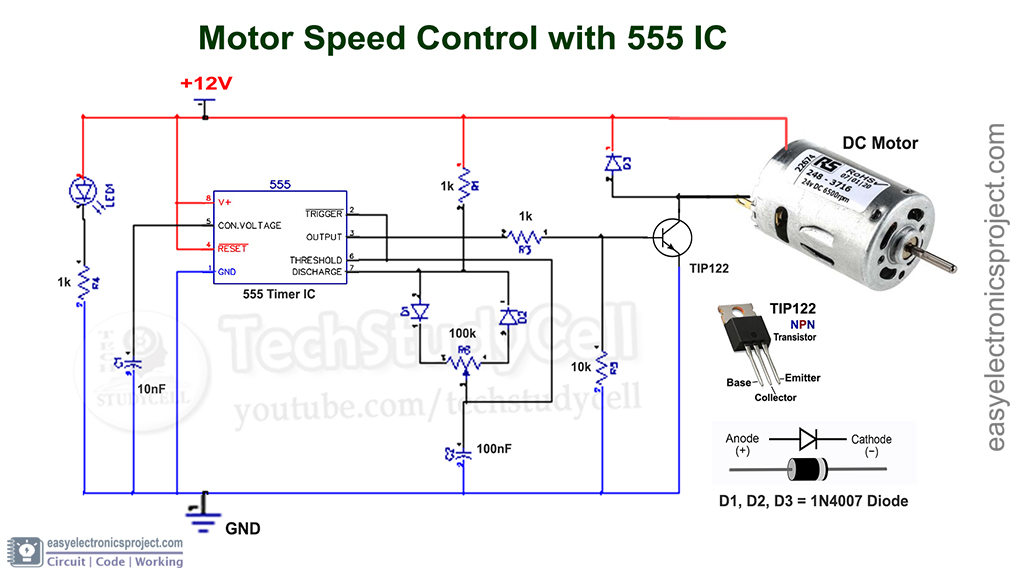 PWM motor speed control circuit