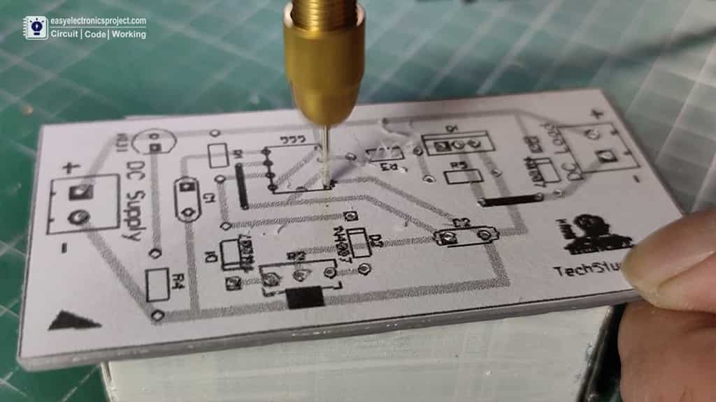 drilling the holes on PCB