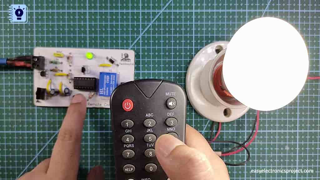 Controlling the light from the push-button