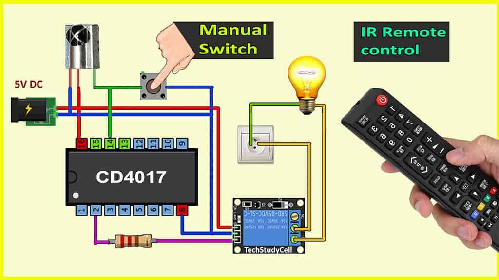 IR sensor switch with 4017