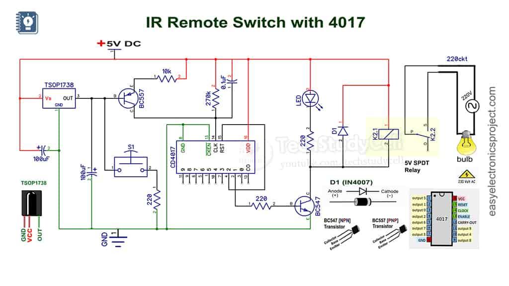 IR sensor switch schematic