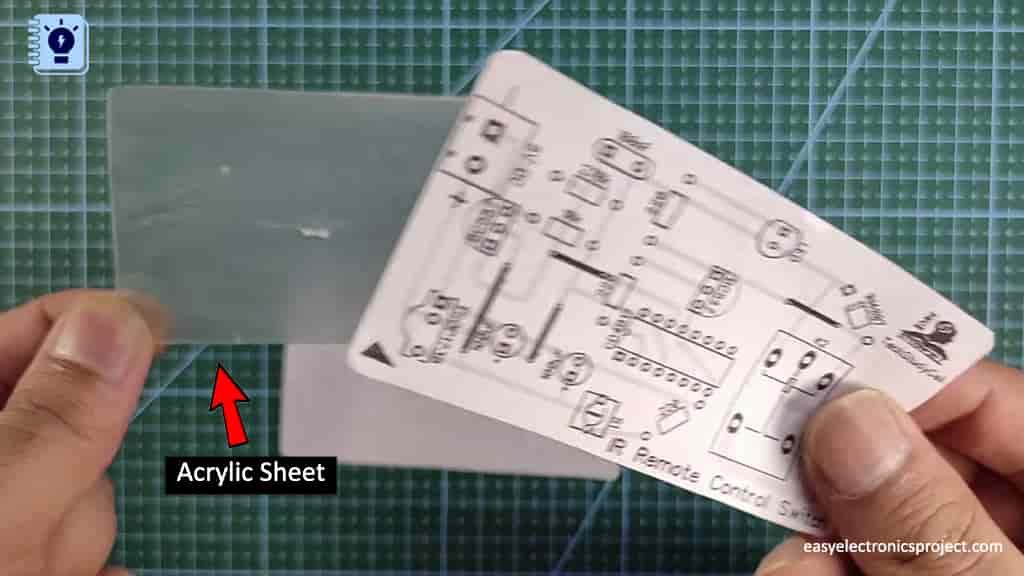 homemade PCB for IR sensor switch