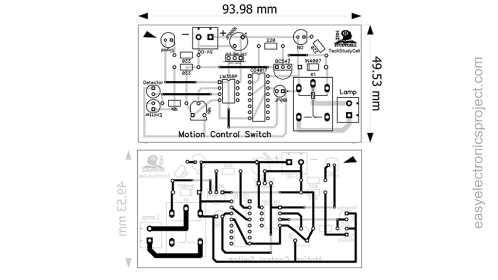 PCB Layout of the Motion Sensor Switch
