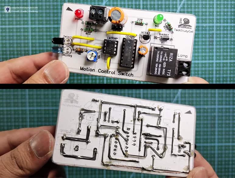 PCB for Motion Sensor light 4017 circuit